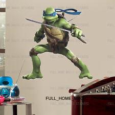 Ninja Turtle Kids Wall Stickers Decal Teenage Mutant Leonardo Boys Bedroom Decor