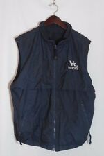 University of Kentucky Wildcats Vest Blue Windbreaker Fleece Lined Sz Large UK