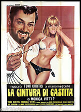 LA CINTURA DI CASTITA MANIFESTO CINEMA PIOVANO MONICA VITTI 1967 MOVIE POSTER 4F