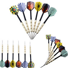 18 pcs(6 sets) of Steel Tip Dart Darts With Nice Flight Flights USA Seller