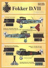Print Scale Decals 1/72 FOKKER D-VII German WWI Fighter Part 1