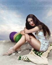 DOROTHY LAMOUR at the Beach | Sexy 8x10 Cheesecake COLOR PHOTO by CHIP SPRINGER