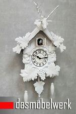 Kuckucksuhr mit Pendel Landhaus Kuckucksuhren Schwarzwald Elch Uhr weiß 165810