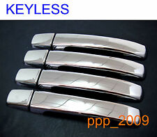 4 DOOR CHROME HANDLE COVER FOR NAVARA D40 PICKUP STX 2005 - 2014 NO KEY HOLE FIT