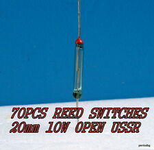 70PCS MAGNETIC REED SWITCHES 20mm 10W OPEN KEM-2A RUTENUM USSR MILITARY IN BOX