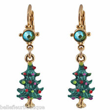 Kirks Folly Make a Wish Christmas Tree Leverback Earrings *Made in USA*