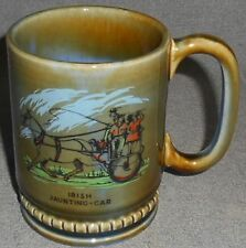 Wade Irish Porcelain IRISH JAUNTING - CAR PATTERN 12 oz Handled Mug IRELAND
