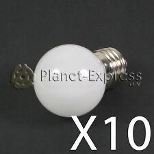 10 x Bombilla 1W LED E27 Blanco Calido 220V 90 lumen Decoracion, jardin SMD 3014