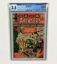 Avengers #1 CGC 3.5 KEY (1st Avengers & Origin) Sep.1963 Marvel Comics