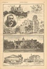 University Of Minnesota, Assembly Hall, Chemistry Lab, The Farm House w/text1887