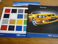 FORD UTE OVERSIZED AUSTRALIAN SALES BROCHURE + COLOURS, OPTIONS AND SPECS. 2005