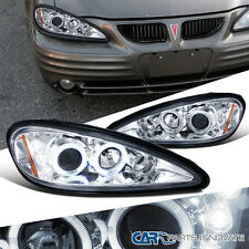 Pontiac 99-05 Grand Am LED Halo Projector Headlights Lamp Chrome