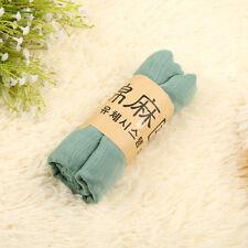 Elegant Women Soft Long Cotton Linen Wrap Scarf Shawl Solid Color Stole Pashmina