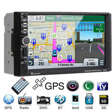 "7"" GPS Car Double DIN MP5 MP3 Player Radio Stereo Touch Bluetooth USB/TV +Camera"