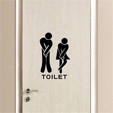 Removable Bathroom Decals Toilet Wall Sticker Vinyl Art Wallpaper Sex Sign CA