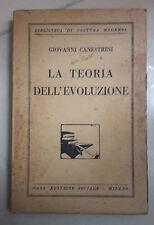 LA TEORIA DELL'EVOLUZIONE CANESTRINI 1925