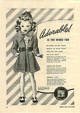 1946 PAPER AD 2 PG Eugenia Doll Dolls Bridesmaid Graduate Wednesday