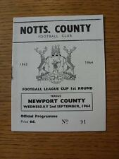 02/09/1964 Notts County v Newport County [Football League Cup] (Rusty Staple)