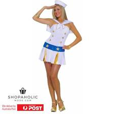 Sexy Ladies Sailor Costume Army Navy Girl Fancy Dress Party Halloween Women