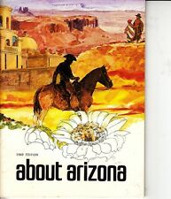 About Arizona 1969 9th Edition Vintage Booklet Map Facts Travel Schools