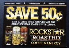 "ROCKSTAR Roasted Energy Drink Coupon Expired 9-30 2009 4.5""x3.25"" Unused RARE"