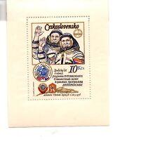 stamps  CZECHOSLOVAKIA A871 Czech-USSR Intercosmos Coop Space Program SHEET MINT