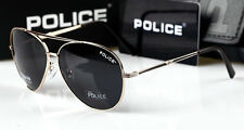 2016 Pure  Men's  Police Sunglasses Driving Glasses Gold frame Black lenses