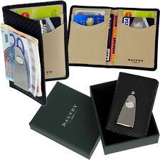 DALVEY - Carbon-Leder - Kartenetui Kreditkartenetui Geld Klammer Clip Dollarclip