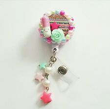 New Kawaii Pill badge reel handmade ID holder name tag clip on Cute bling reel