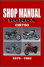 HONDA Workshop Manual CB750 CB750F CB750C CB750K & LTD 1979 1980 1981 & 1982