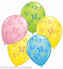 """5 x 11"""" Easter Butterfly / Butterflies Printed Latex Balloons Qualatex 91322"""
