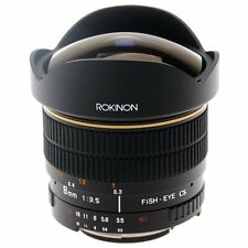 Rokinon 8mm Ultra Wide F/3.5 Fisheye Aspherical Hi Def lens for Olympus FE8M-O