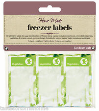 Kitchen Craft Colour Coded Pack of 60 Food Freezer Sticky Labels