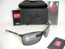 RAY-BAN LITEFORCE RB 4179 601-S/82 62mm MATTE BLACK / SILVER MIRROR POLARIZED