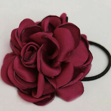 1pcs Red Rose Flower Ponytail Holder Lady Hair Band Rope Scrunchie Accessories