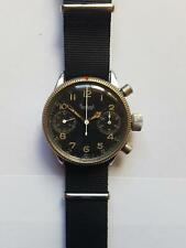 Rare 1940s Hanhart Pilot Flieger Military Chronograph Watch From World War 2