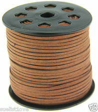 Nouveau 10yds 3mm en daim marron en cuir string jewelry making thread cords hot
