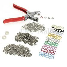 100PCS 10 Colour Snap Press Button Studs 9.5mm Snap Fastener Pliers Sewing Craft