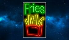 Fries Neon Sign Fridge Magnet. NEW. Americana. Chips. Fast Food