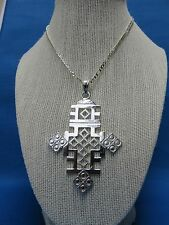 African Jewelry LARGE HIP HOP ETHIOPIAN STYLE ORTHODOX CHRISTIAN COPTIC CROSS D