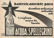 Z0337 Acqua di San Pellegrino - Pubblicità del 1931 - Advertising