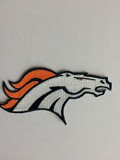 "Denver BRONCOS LOGO Patch/ 4.5"", Iron On,  Collectible/ FREE Ship. USA"