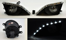 Toyota Corolla 08-10 LED JDM Front Bumper Fog Lights Lamps w/ Switch - Clear
