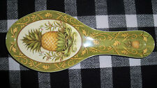 Colonial Williamsburg Virginia Hospitality Pineapple Spoon Rest Melamine Kitchen