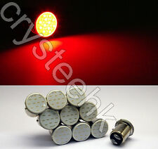 10 x T25/S25 1157 BAY15D COB LED Stop Tail Turn Brake Red Light  Lamp Bulb
