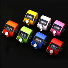 New Digital Chrome Hand Held Tally Counter Tool 4 Digit Number Display Clicker