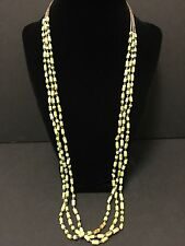 Vintage Navajo Green Turquoise  & Heishi 3 Strand Necklace