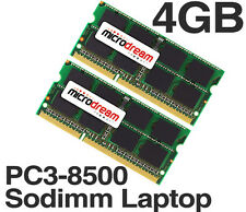 4GB (2x2GB) PC3-8500 1066MHz 204Pin DDR3 Sodimm Laptop Memory RAM