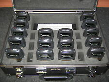 Listen Technologies LA-311 charging case, 16 LR-400-72 receivers, 16 LA-164 ears