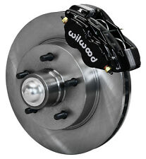 "WILWOOD DISC BRAKE KIT,FRONT,1957-1960 CADILLAC,11.88"" ROTORS,BLACK CALIPERS"